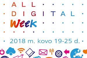 """Kviečiame dalyvauti ES iniciatyvoje """"All Digital Week"""""""