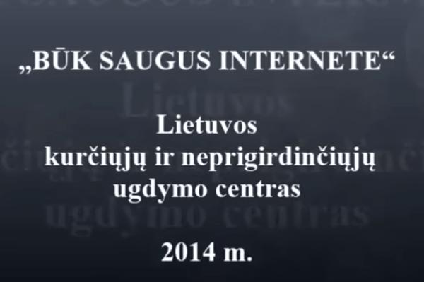 """Filmukas """"Būk saugus internete"""""""