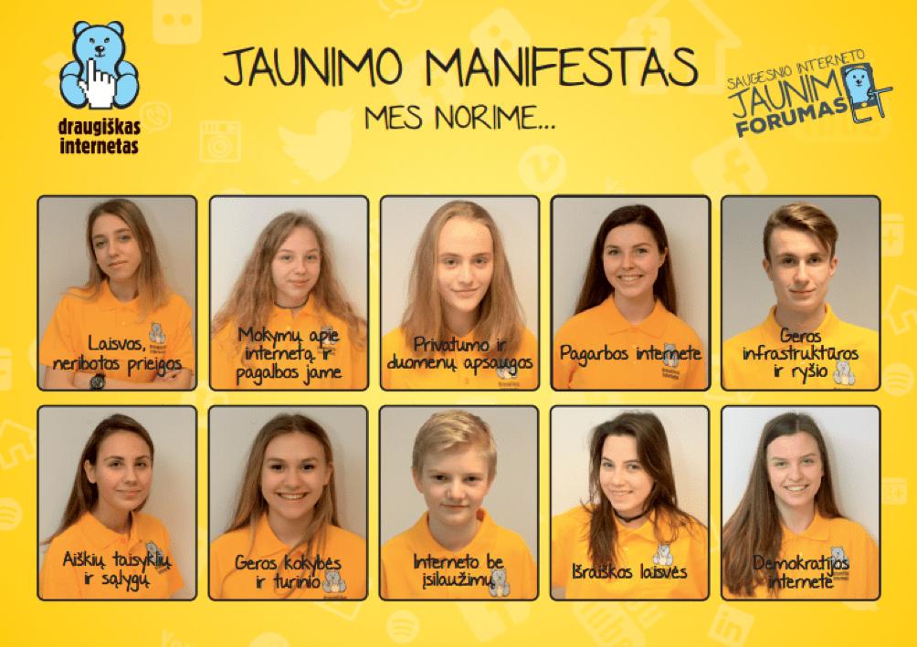 Europos vaikų ir jaunimo JAUNIMO MANIFESTO lietuviškoji versija
