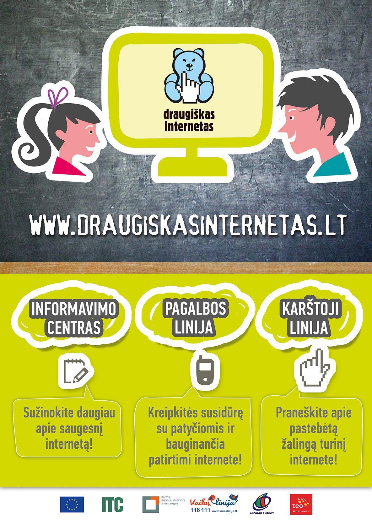 Naujasis Draugiško interneto plakatas