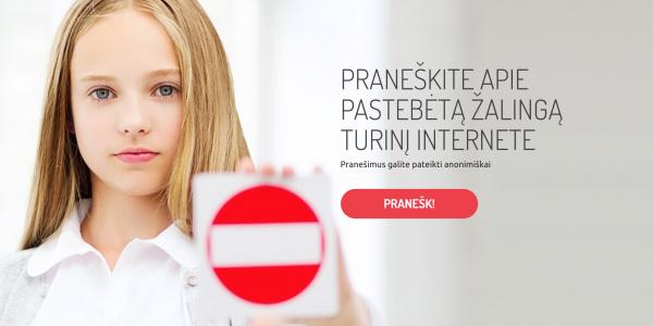 """Startuoja """"Švarus internetas"""": praneškite apie neteisėtą ar žalingą turinį internete"""
