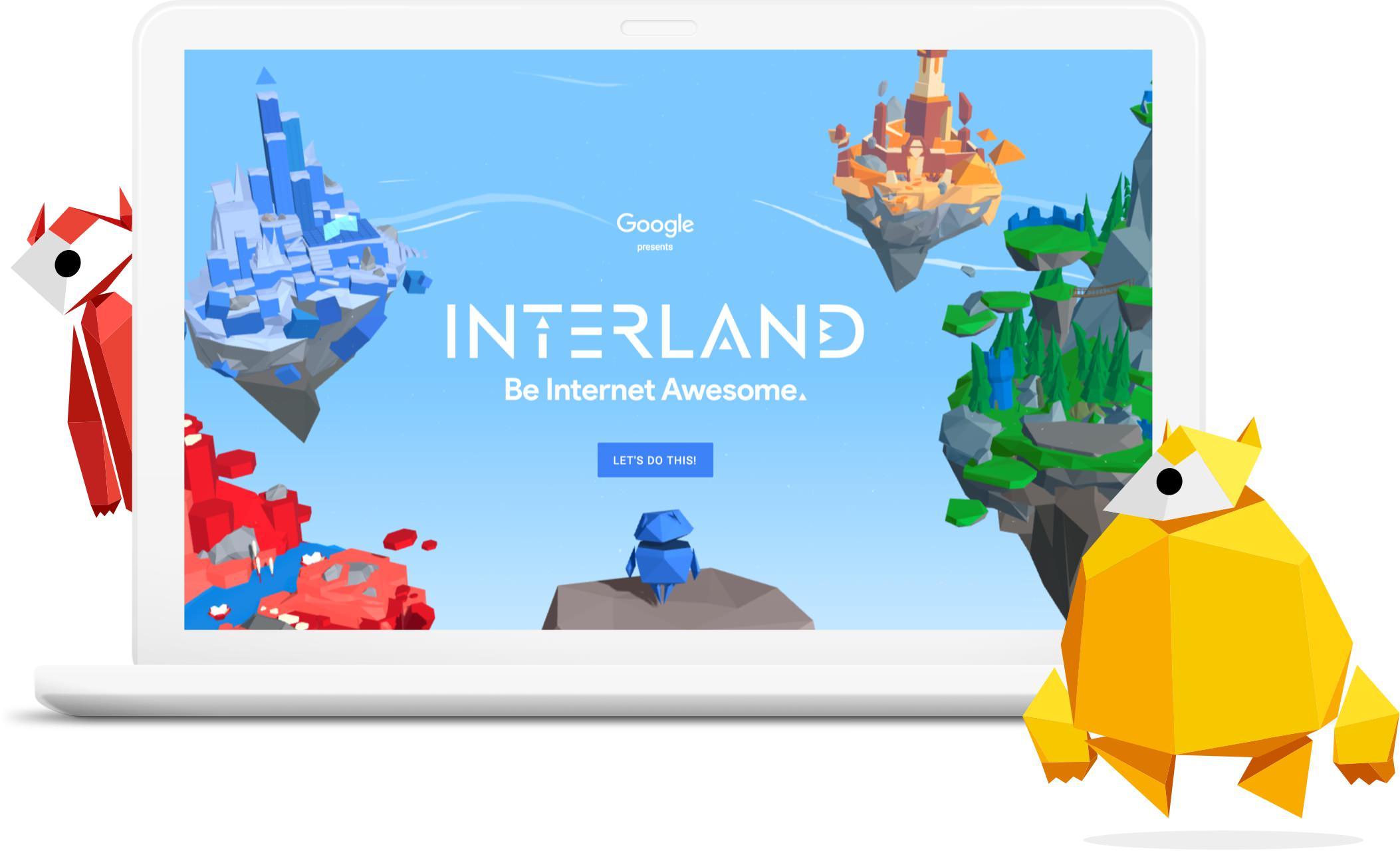 """Google žaidimas """"INTERLAND: Būk interneto Genijus"""""""