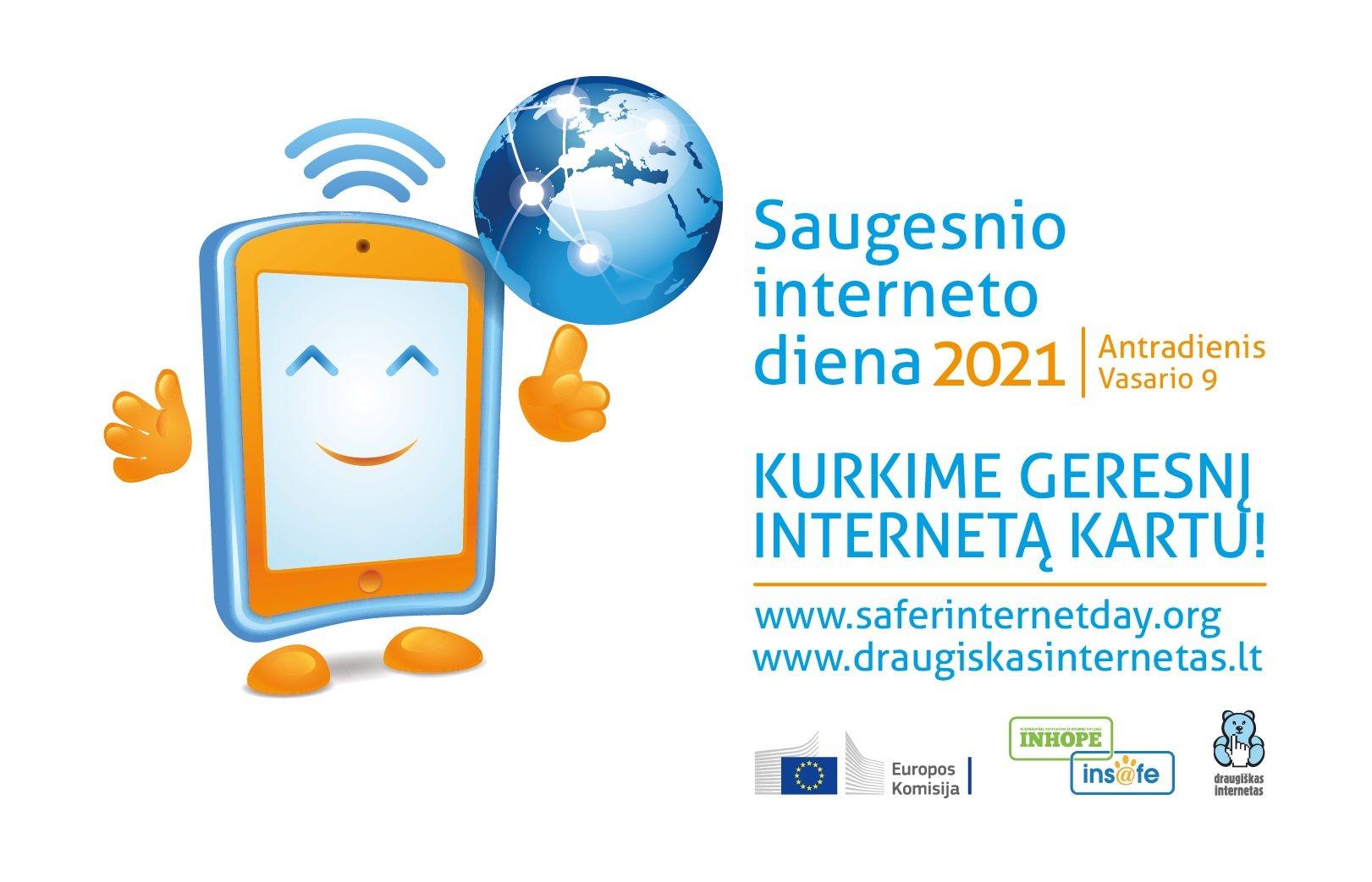 """Kviečiame švęsti saugesnio interneto dieną  """"Kuriame saugų internetą kartu"""""""